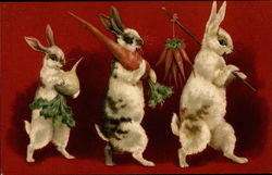 Bunnies Carrying Vegetables