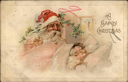Santa & Children Sleeping Postcard