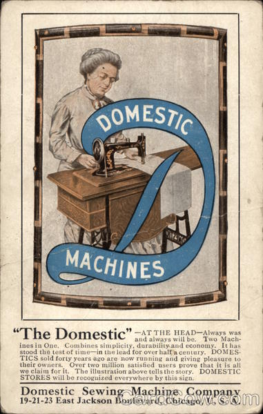 Domestic Sewing Machine Company Advertising