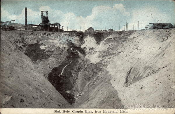 Sink Hole, Chapin Mine Iron Mountain Michigan