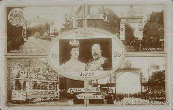 July 1908 Royal Visit to Leeds - King Edward VII, Queen Alexandra England