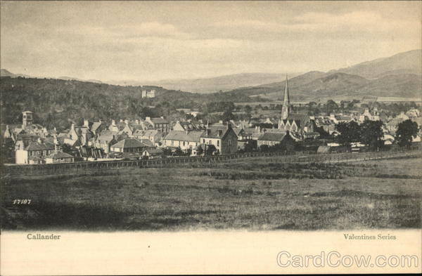 View of the Town Callander Scotland