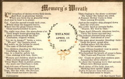 Titanic Day April 15, 1913 - Memory's Wreath