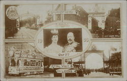 July 1908 Royal Visit to Leeds - King Edward VII, Queen Alexandra Postcard