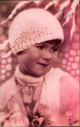 Young Girl in Crochet Hat