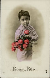 Art Deco Boy with Roses