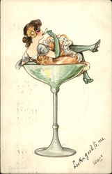 """The Drinkers"" Series - Creme de Menthe"