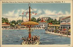 Bird's-Eye View of the Famous Swimming Pool at Palisades Amusement Park