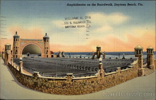 Amphitheatre On The Boardwalk Daytona Beach Florida