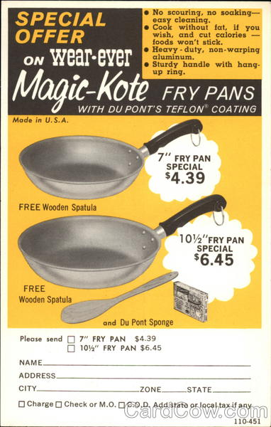 Magic-Kote Fry Pans Advertising