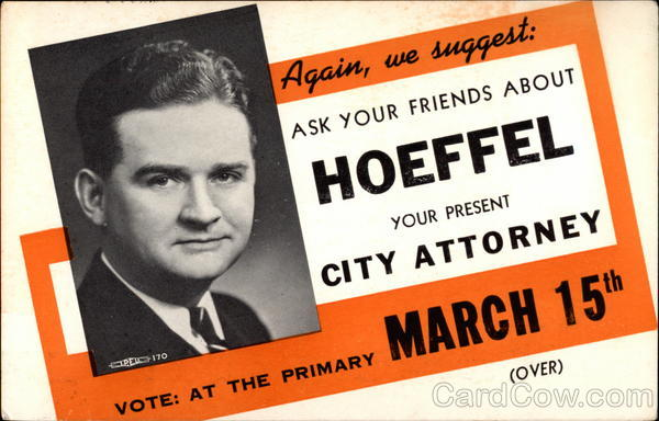 Re-elect Harry Hoeffel City Attorney Political