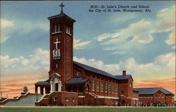St. Jude's Church and School, the City of St. Jude Montgomery Alabama