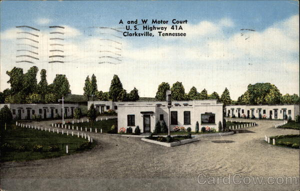 A and W Motor Court Clarksville Tennessee