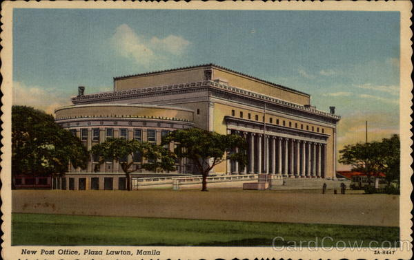 New Post Office, Plaza Lawton Manila Philippines Southeast Asia