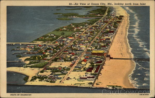 Air View of Ocean City Maryland