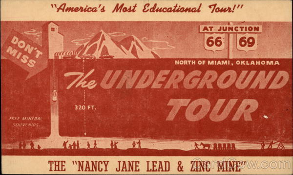 The Underground Tour Old Postcard