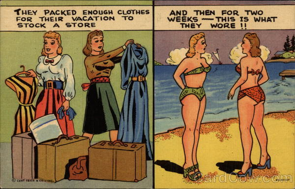 Vacation Fashion Comic, Funny