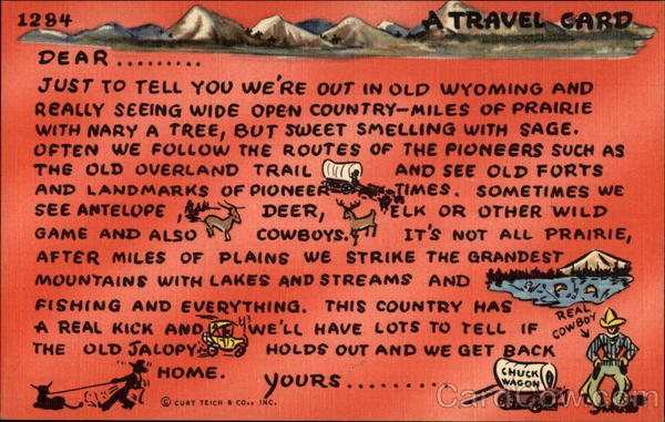 A Travel Card Wyoming