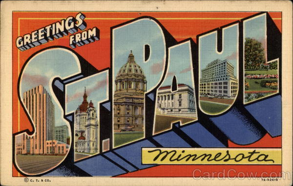 Greetings from St. Paul Minnesota Large Letter
