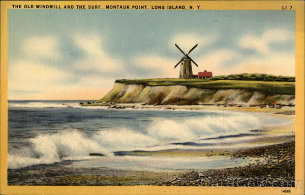 The Old Windmill And The Surf Montauk Point Ny