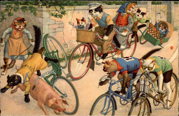 Cats on Bikes Alfred Mainzer (Eugen Hurtong)