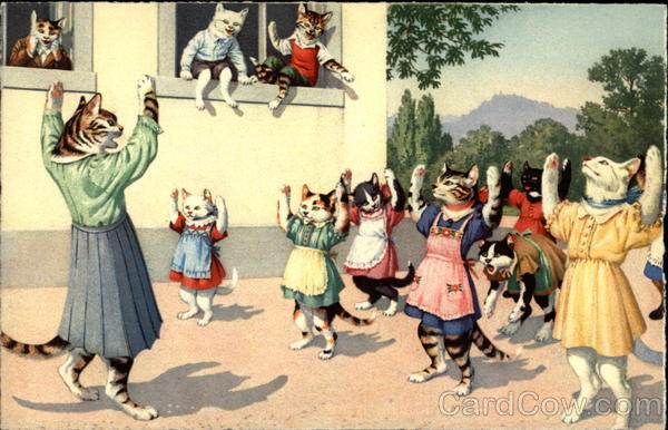 Cats as People at School Alfred Mainzer (Eugen Hurtong)