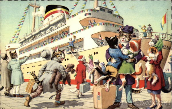 Cats go on a Cruise Alfred Mainzer (Eugen Hurtong)