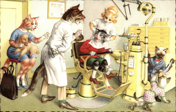 Cats at the Dentist Alfred Mainzer (Eugen Hurtong)