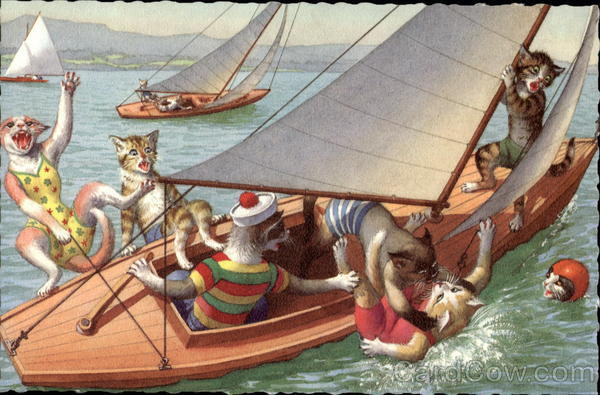 Cats Sailing Alfred Mainzer (Eugen Hurtong)