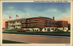 Evansville National Guard Armory Postcard