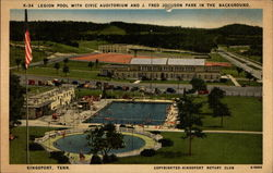 Legion Pool with Civic Auditorium and J. Fred Johnson Park in the Background