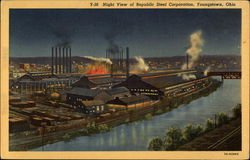 Night View of Republic Steel Corporation