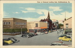 View of Diamond Looking East Postcard