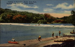 Fishing at Palisades--Kepler State Park, Between Iowa City and Cedar Rapids