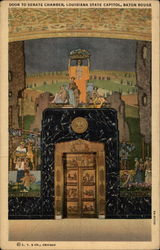 Door to Senate Chamber, Louisiana State Capitol