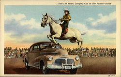 Dixie Lee Reger, Jumping Car on Her Famous Horse