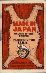 Made in Japan - Caught in the Pacific - Tanned in the USA