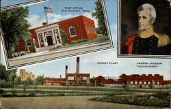 "Andrew Jackson ""Old Hickory"", Post Office, Dupont Plant Postcard"