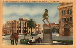 The Trojan Statue, University of Southern California at Los Angeles