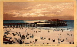 View of Bathing Beach and Pier