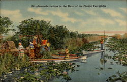 Seminole Indians in the Heart of the Florida Everglades