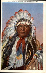 Indian Chief in typical festive regalia