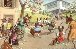 Mice Going to School