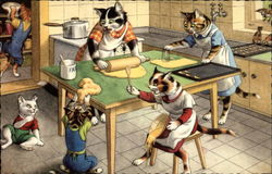 Cats Making Cookies