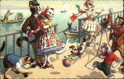 Cats at the Seaside
