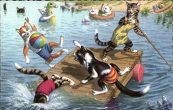 Cats on a Raft