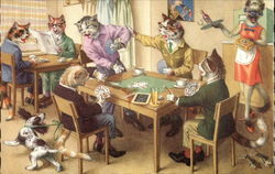 Cats Palying Cards