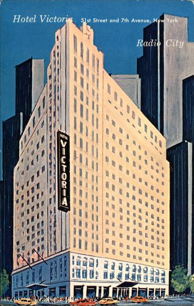 hotel victoria 51st street and 7th avenue  new york