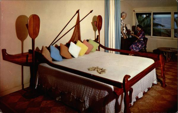 The Outrigger Bed at the Coco Palms Hotel Kauai Hawaii