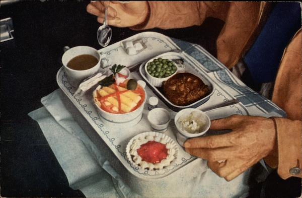 Dinner on United Aircraft